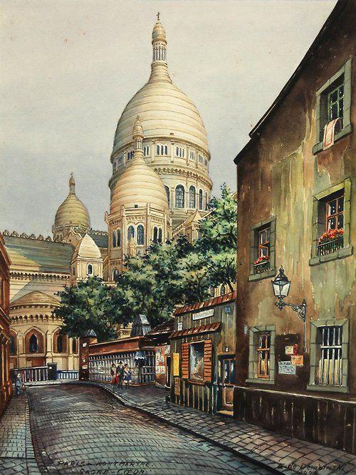 Paris, Montmartre - Sacre Coeur - Eduard von Dembinski 1936