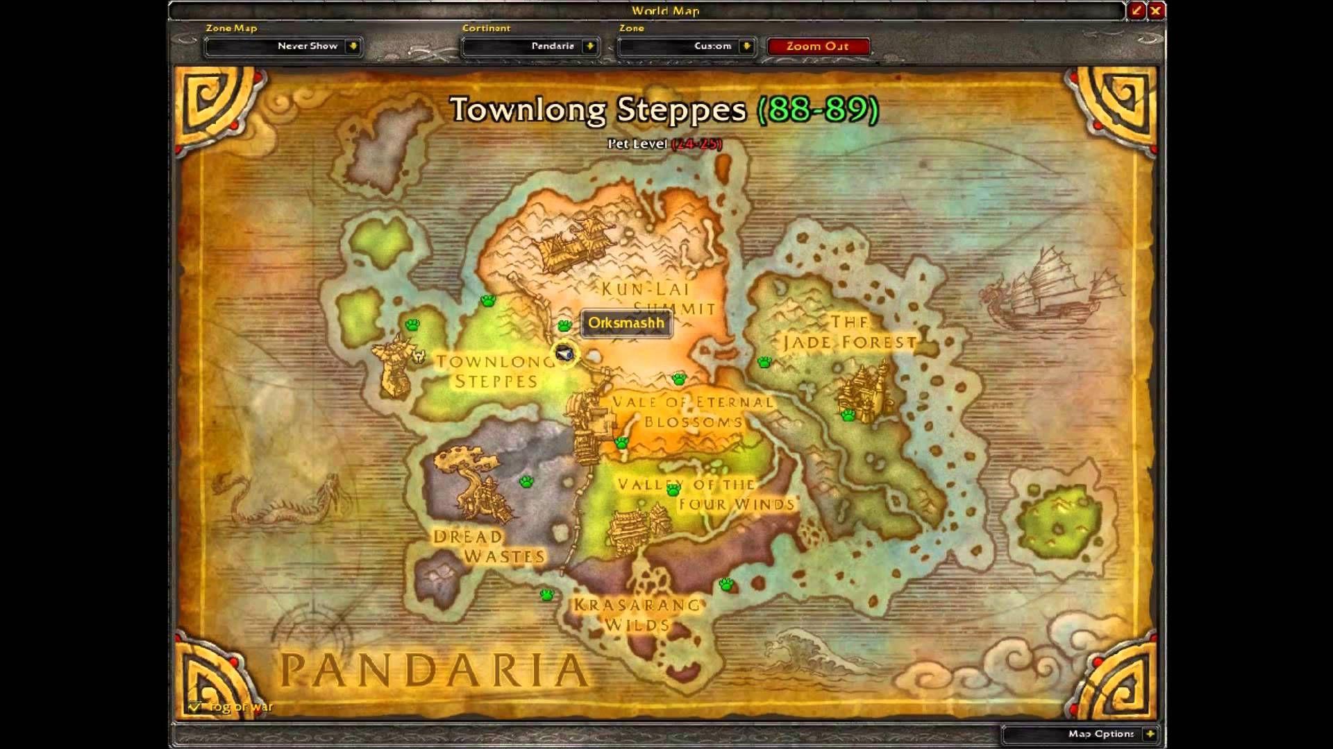 Horde Pvp Vendor Location Mist Of Pandaria Pvp World Of Warcraft Warcraft