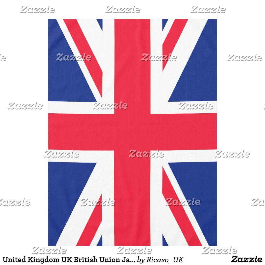 United Kingdom Uk British Union Jack Flag Tablecloth Zazzle Com Patriotic Flag Union Jack Flag Receiving Blankets