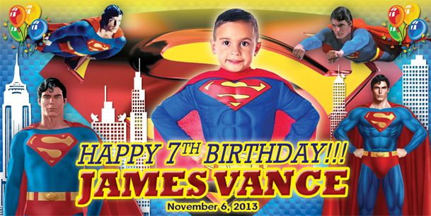 Birthday Tarpaulin Superman Theme Version 2 Template | adobo | Pinterest | Birthdays and ...