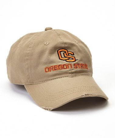 Take a look at this Khaki Oregon State Beavers Baseball Cap - Adults by Signatures on #zulily today!
