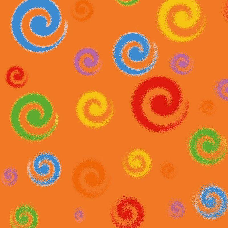 swirls glass orange