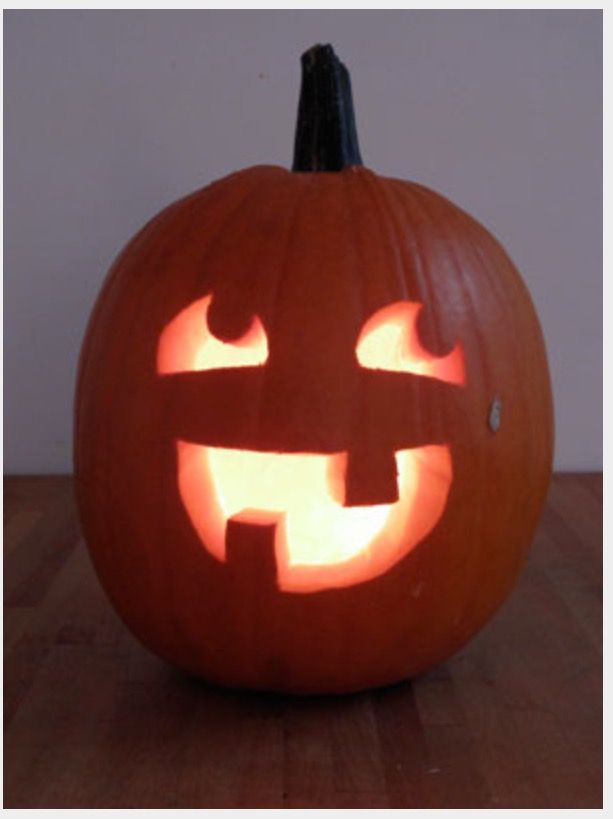 Pumpkin Face Carving Pumkin Carvings Easy Templates Stencil Simple