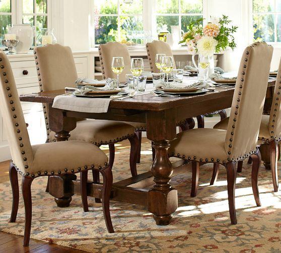 Pottery Barn Dining Room Furniture: Cortona Extending Dining Table