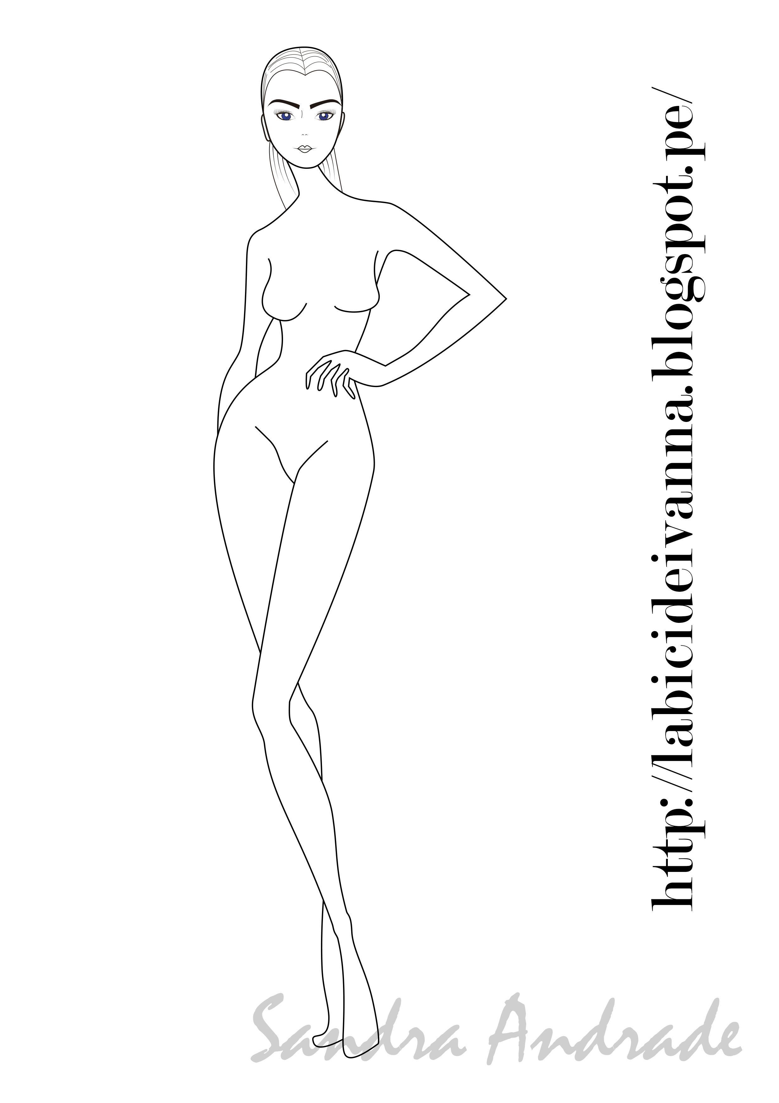 figurin de #moda #ilustración # sketch | ceam | Pinterest
