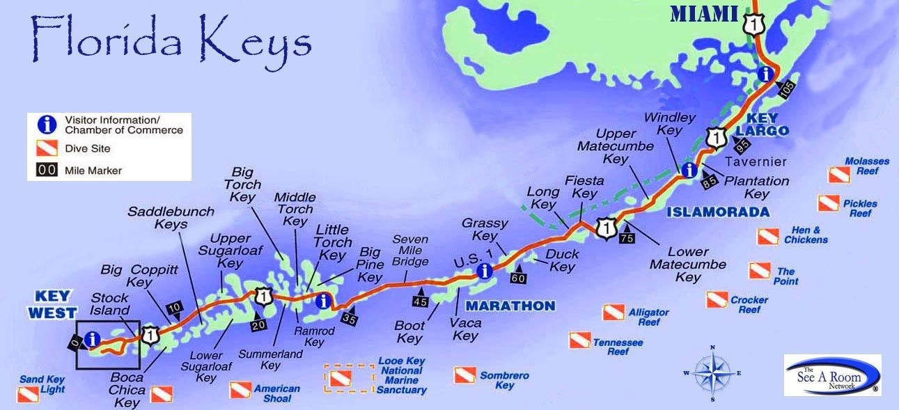 Key West Islands Map Florida Keys. Get details about planning a Florida Keys vacation