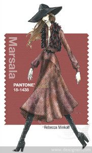Fall 2015 - fashion colors: Marsala