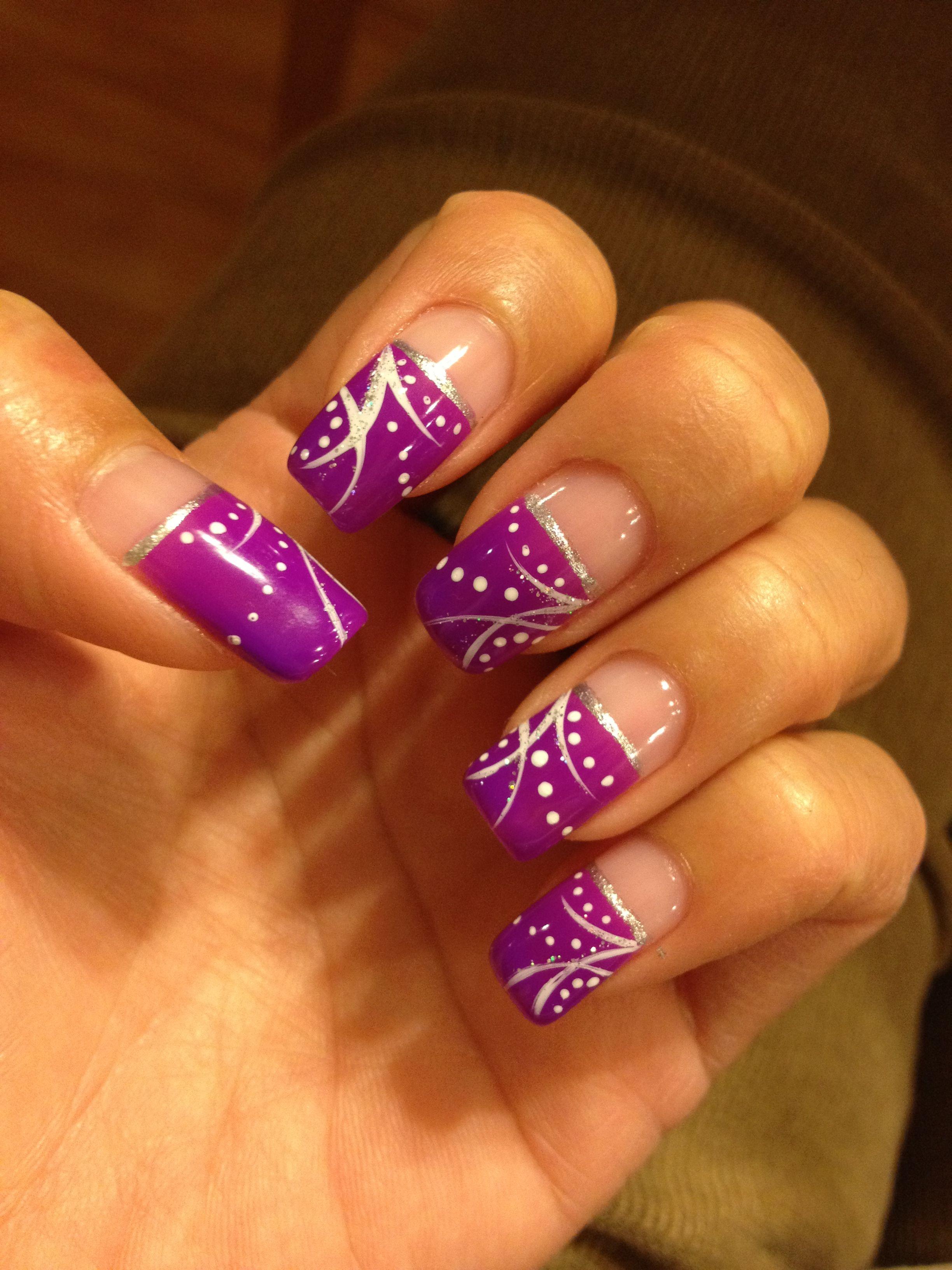 Fun Glitter Bright Gel Nails Design