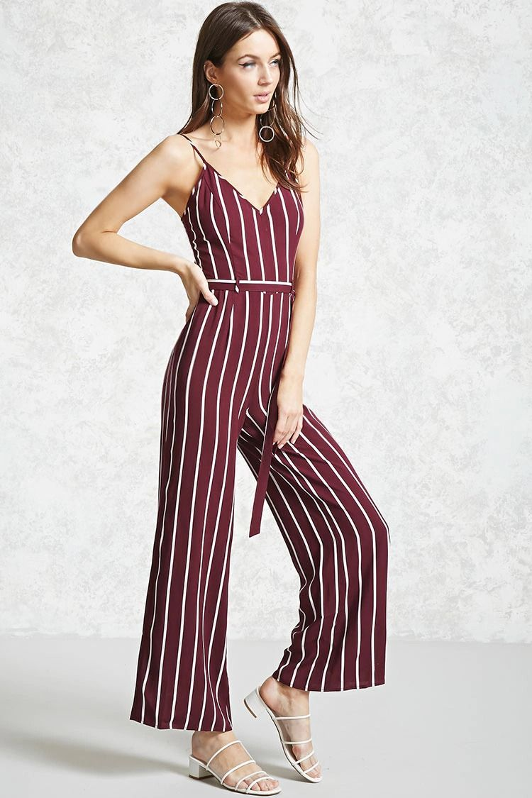 45d54cf49355 Striped Cami Jumpsuit