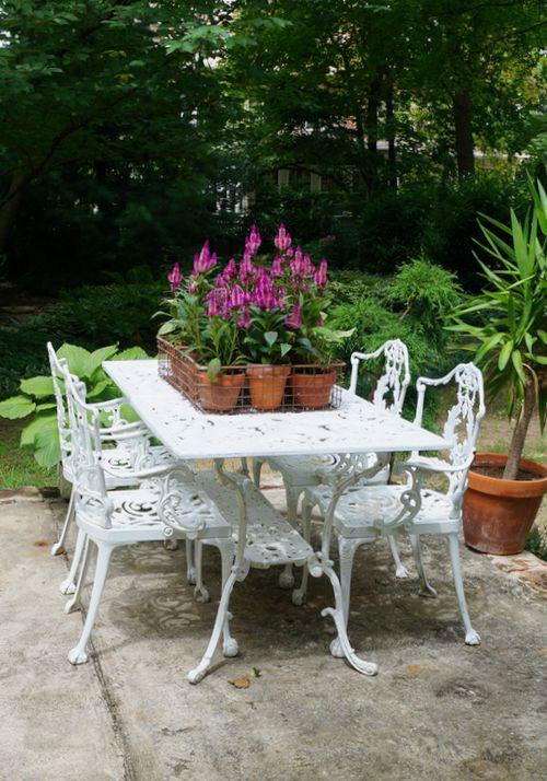 Craigslist score: vintage patio furniture & powder coating ...