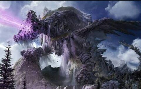 Giant elemental dragon