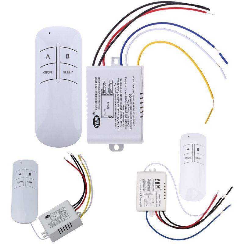 Wireless 1way 2 Manieren 3 Manieren On Off 220 V Lamp Licht Digitale Afstandsbediening Schakelaar Ontvanger Zen Remote Light Switch Remote Remote Control Light