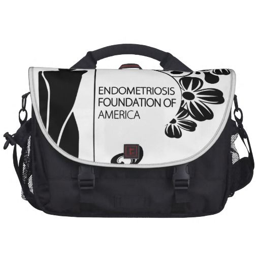 Simple Black and White Commuter Bag. The Endometriosis Foundation of America is a 501(c)3 non-profit organization focused on fighting against the devastating effects of a painful disease affecting 176 million women and adolescent girls around the globe. Through increased awareness, education, research, and legislative advocacy, the EFA is committed to improving lives through early detection and treatment.