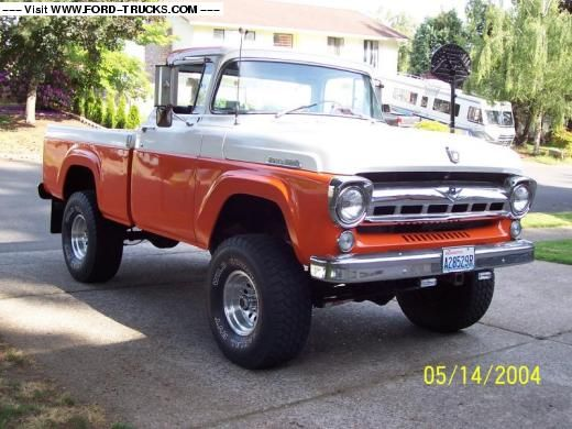 Beautiful Ford Truck Photos 1957 Ford F100 4x4 Julies 57 F100 With Images Ford Trucks Ford Pickup Trucks Vintage Trucks