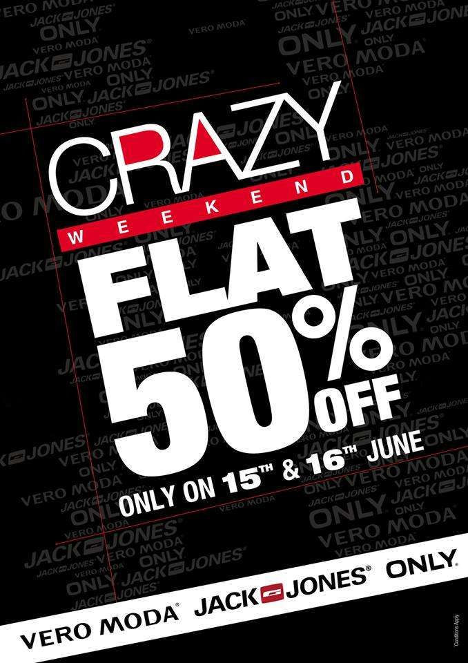 promo code c5ce1 66caa Crazy Weekend - Flat 50% off Sale on 15 & 16 June at Vero ...