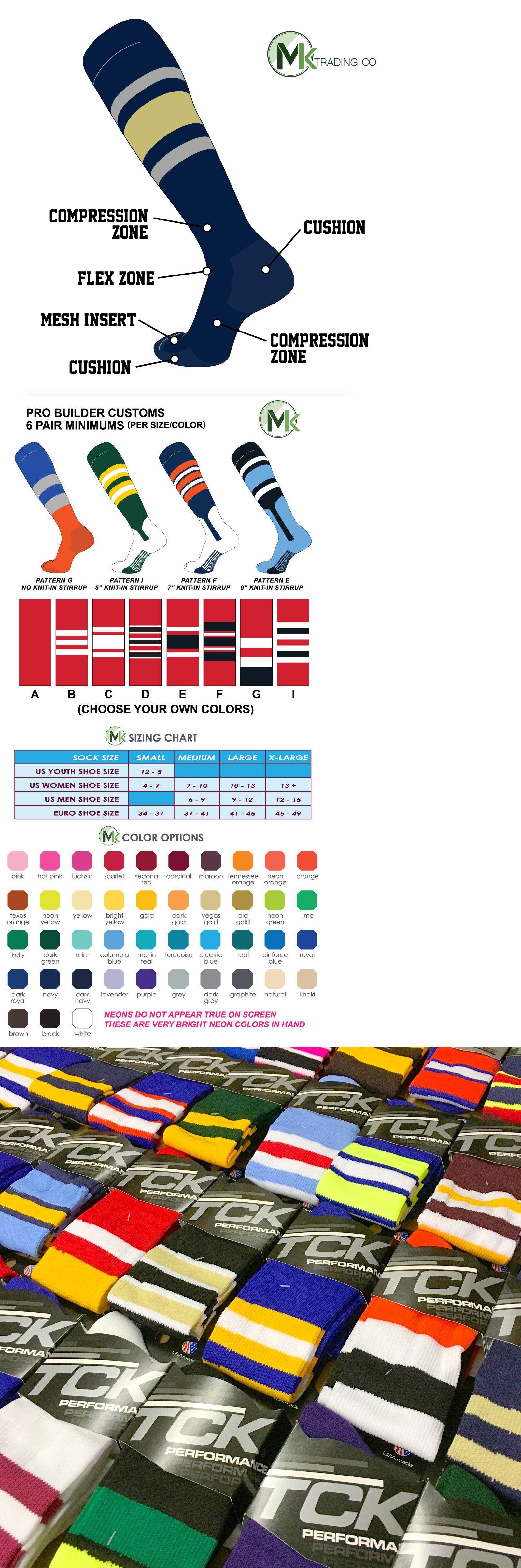 6a3baf5e25d Baseball Socks 181338  Tck Elite Baseball Football Knee High Striped Socks  (E) Navy