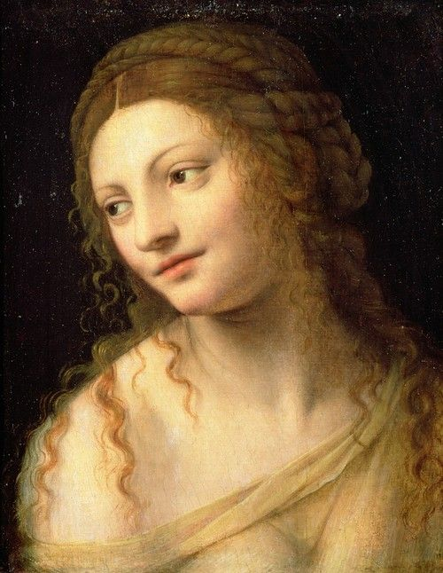 Bernardino Luini Head And Shoulders Of A Young Woman 15th Century Renaissance Portraits Art Portrait Painting