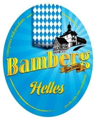 Cerveja Bamberg Helles, estilo Munich Helles, produzida por Cervejaria Bamberg, Brasil. 5.2% ABV de álcool.