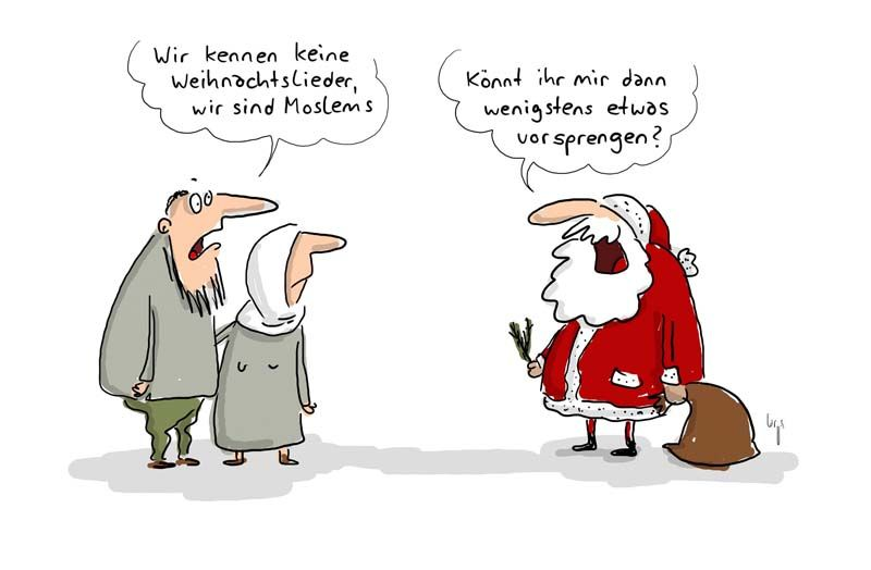 Weihnachten Satire