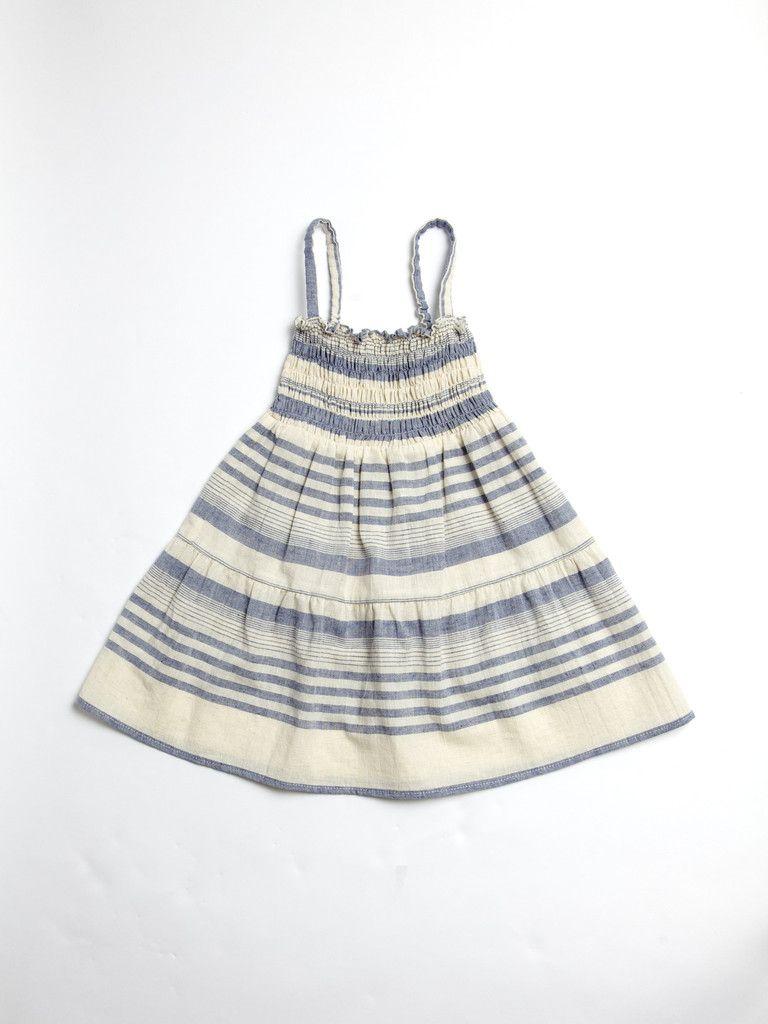 Blue Stripe Smock Dress