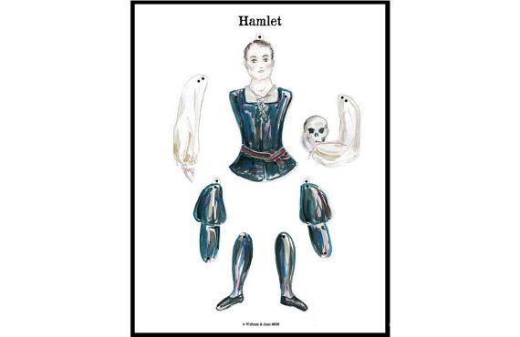 Hamlet - DIY Instant Digital Download - Shakespeare - Jumping Jack ...