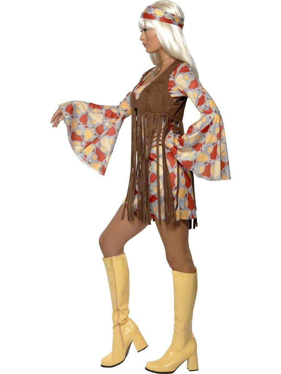 1416ecec931 Adult 70 s Hippie Fringed Costume