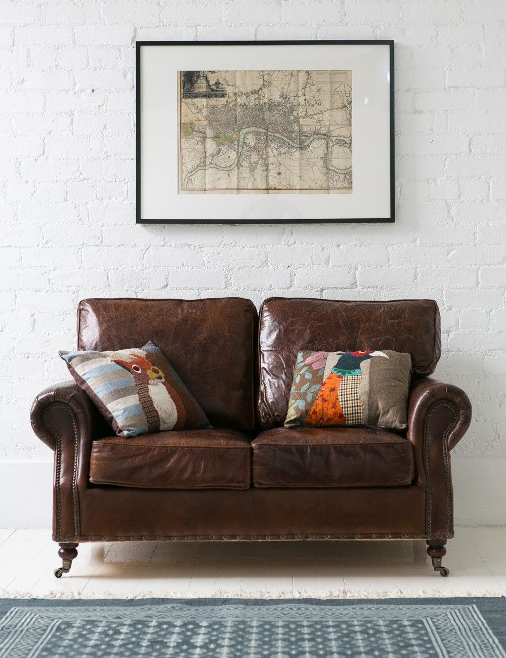 Vintage Leather Sofa 2 Seater Home Shop The Look Vintage
