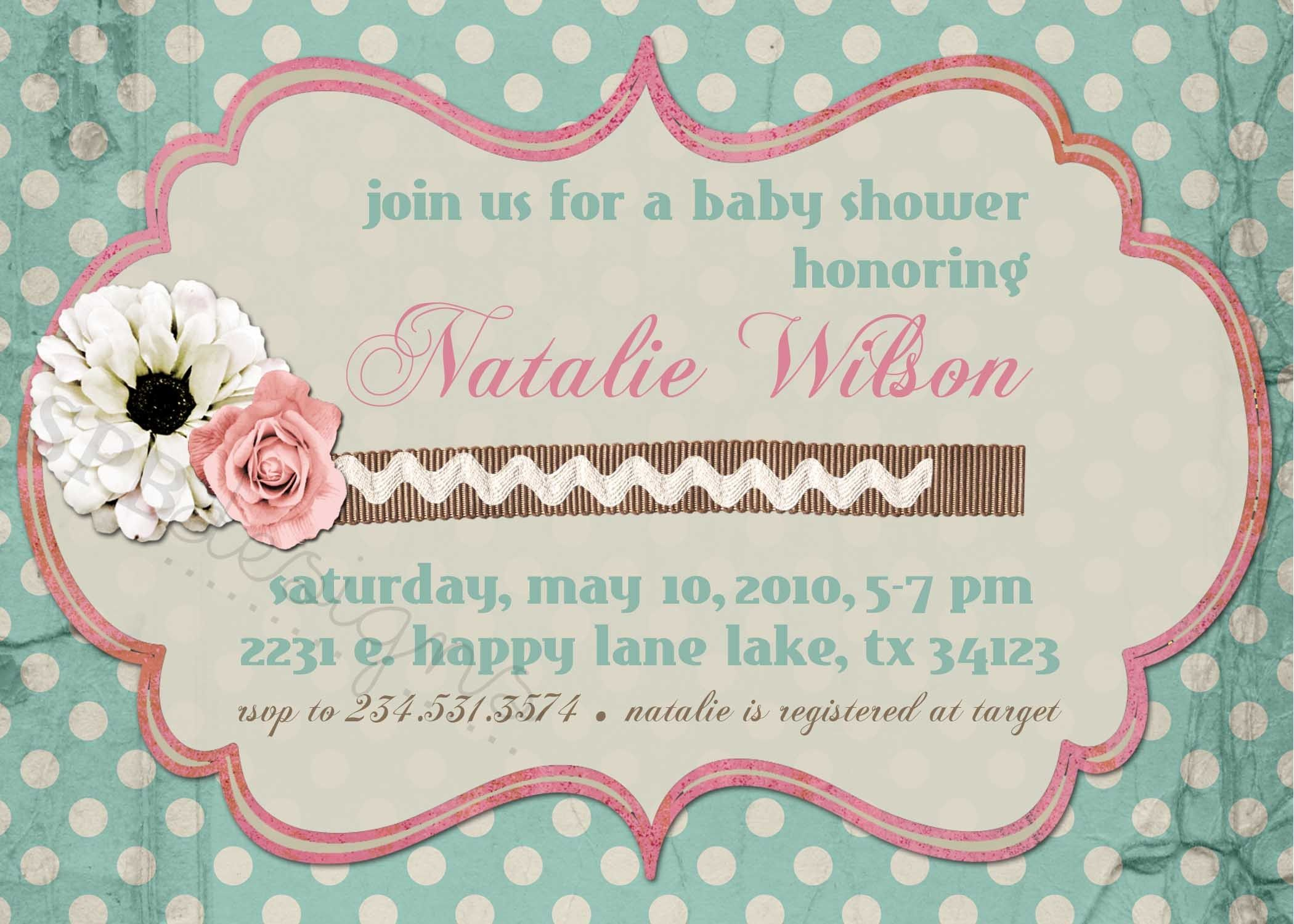 shabby chic baby shower | ... is for the customizable SHABBY CHIC ...