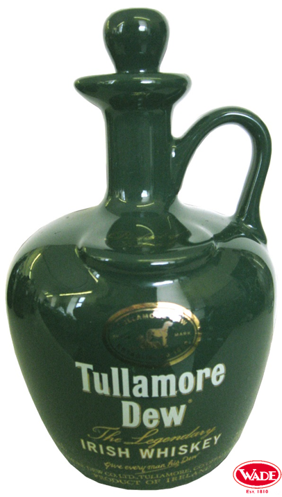 Tullamore Dew Irish Whisky Green Ceramic Flagon Bottles