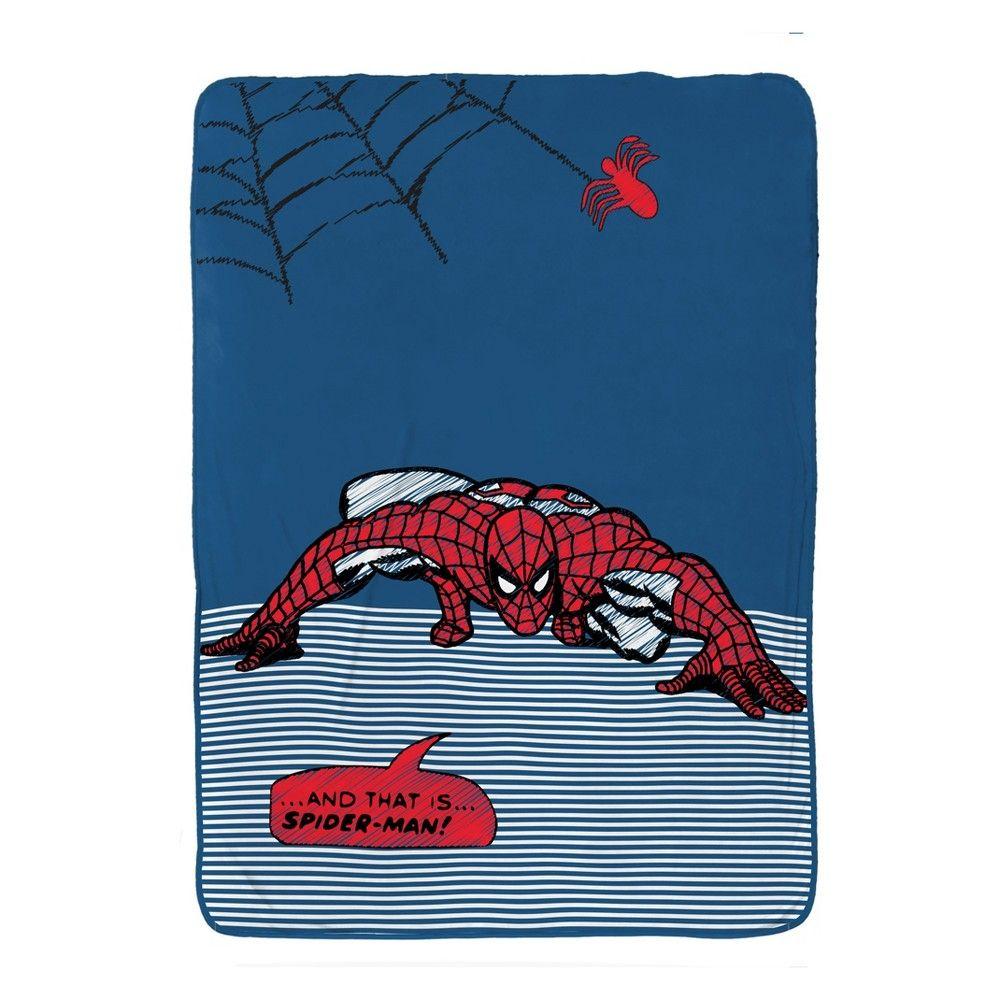 Marvel SpiderMan Twin Bed Blanket Blue/Red Marvel