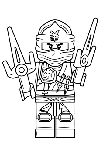 Lego Ninjago Jay Zx Coloring Page From Lego Ninjago Category