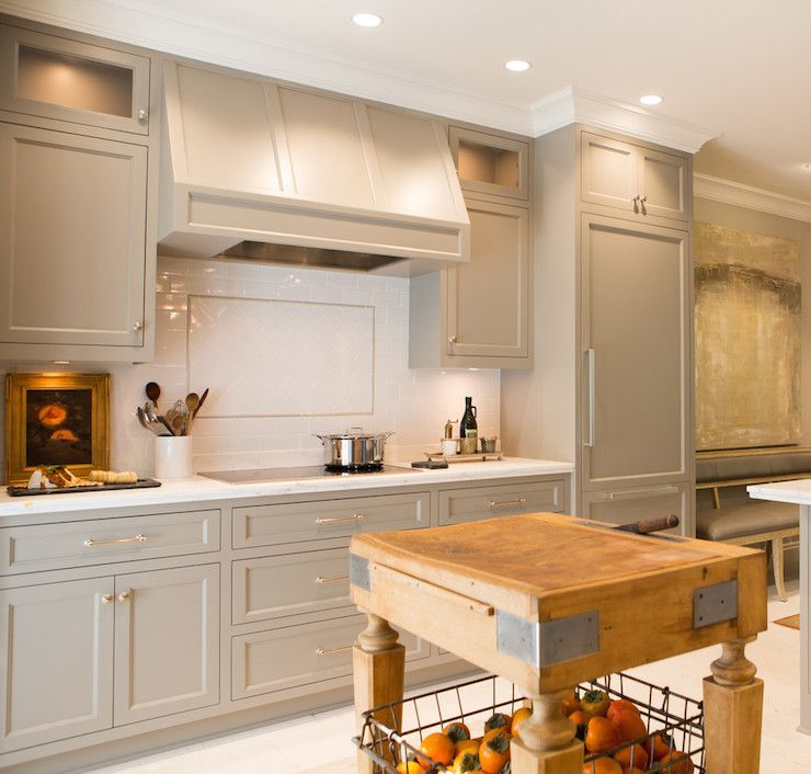 Kitchen Cabinets Painted Gray, Transitional, Kitchen