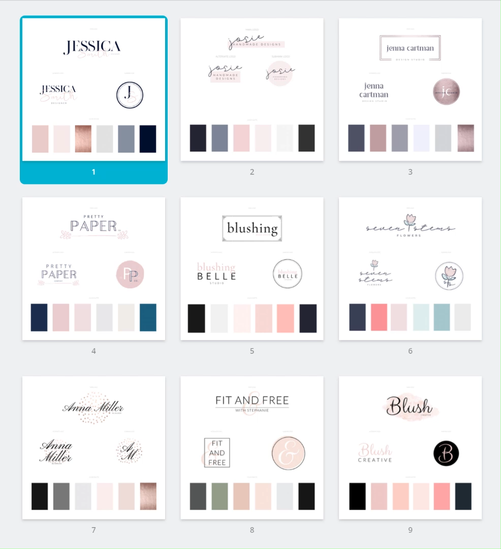 30 Pre-Made Canva Logo Templates that are fully-editable to create your brand in one day!  These logo templates comes with a branding workbook and a brand board template to help you step-by-step!  Get your Canva template today! #branding #logotemplate #pre-madelogo