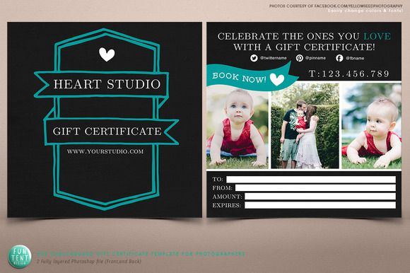 Modern chalkboard gift certificate brochure templates on modern chalkboard gift certificate brochure templates on creative market yadclub Images