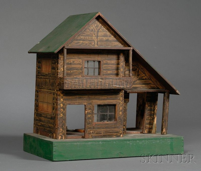 Bliss-type Adirondack-style Dollhouse and Arts  Crafts Wooden