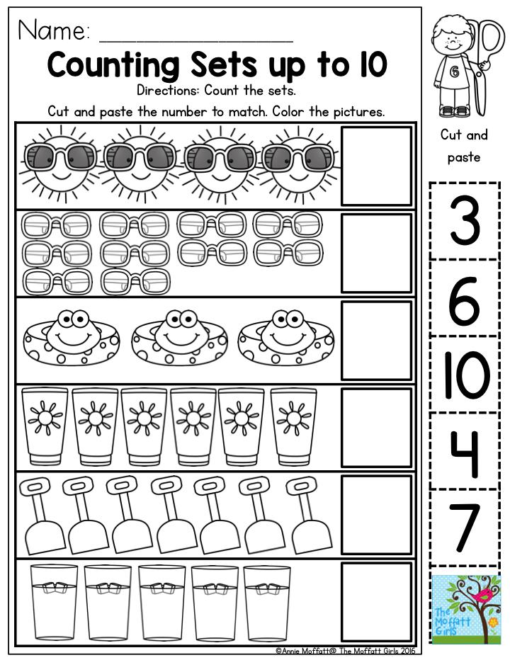 Printable Worksheets » Counting Sets Worksheets