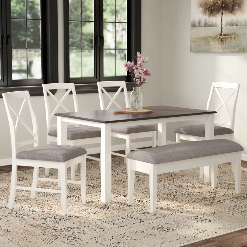 Amaury 6 Piece Dining Set Dining Room Sets Dining Room Design Modern Farmhouse Design