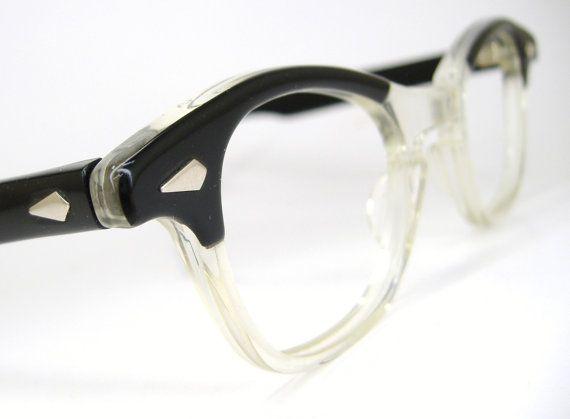 8b1e47a440 Vintage 50s Black Cat Eye Eyeglasses Frame Tart Optical Never Worn on Etsy
