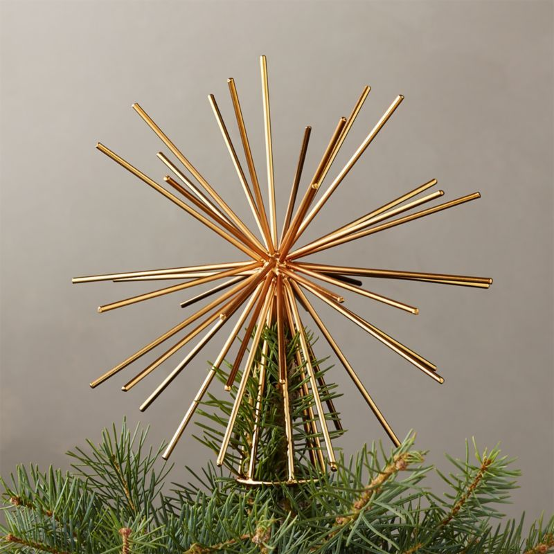 Burst Gold Tree Topper Reviews Cb2 Gold Tree Topper Diy Tree Topper Silver Tree Topper