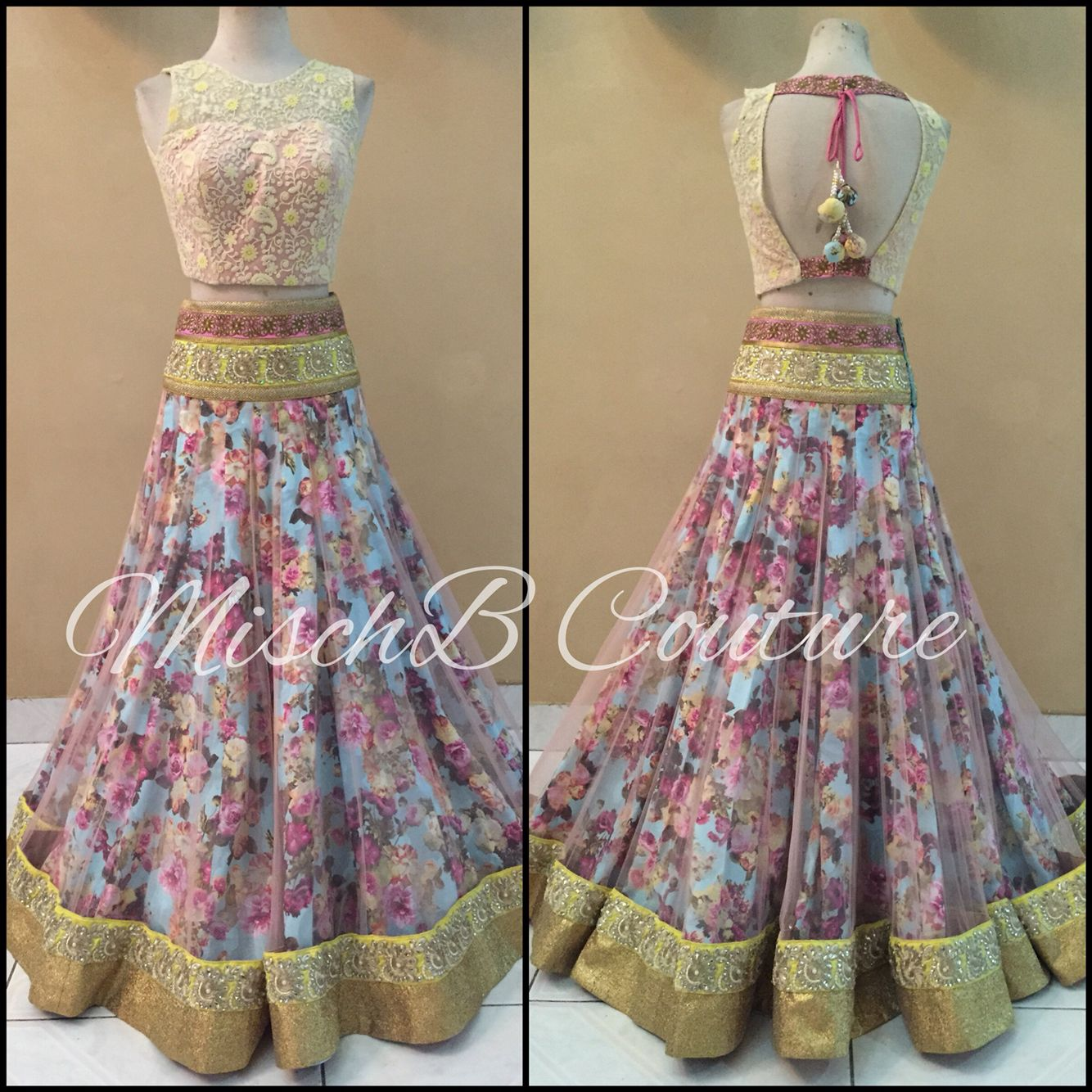 817b8283df Ka-Bloom, floral print lehenga by MischB Couture | MischB Couture ...