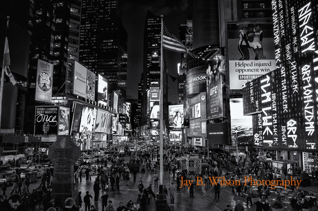 middle america times square nyc at night fine art print on professional lustre paper. Black Bedroom Furniture Sets. Home Design Ideas