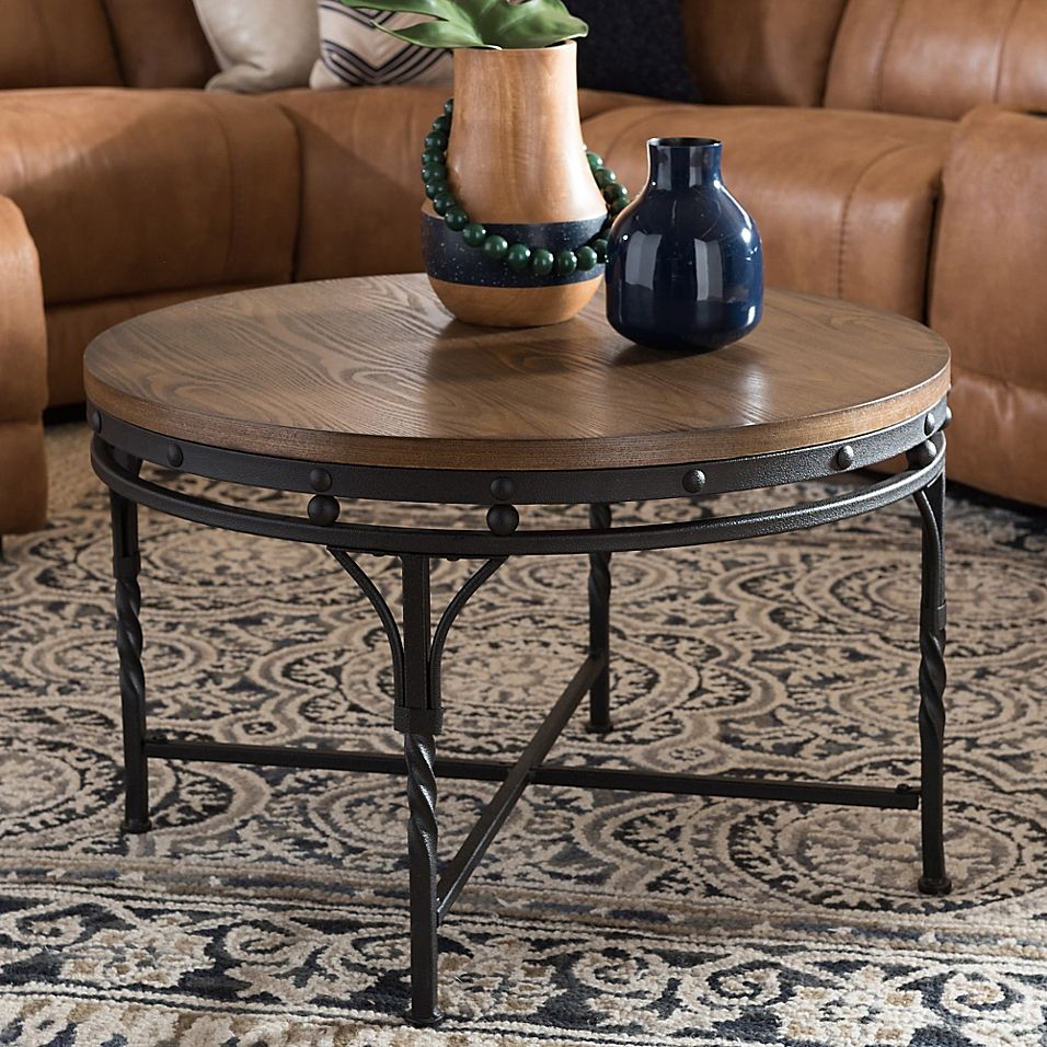 Austin Round Cocktail Table In Antique Bronze Bed Bath Beyond Round Wood Coffee Table Coffee Table Wood Round Coffee Table [ 956 x 956 Pixel ]