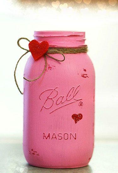 Valentine S Day Mason Jar Ideas That Ll Brighten Your Home This February Valentine Mason Jar Valentine Crafts Valentines Day Decorations