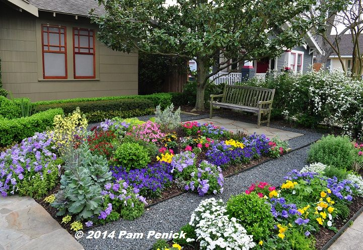 Superior Drive By Gardens: No Lawn Flower Garden At Houston Heights Bungalow |  Digging