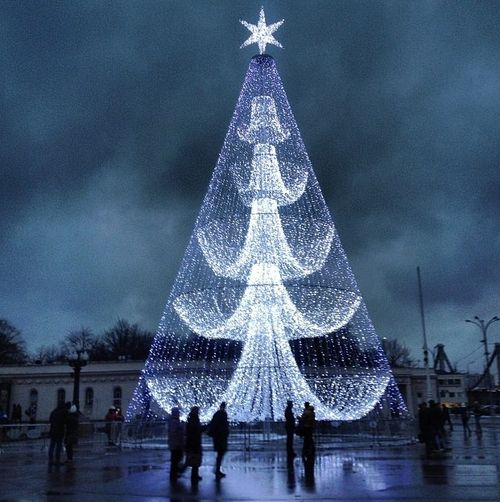 Christmas Tree In Russia Outdoor Christmas Tree Outdoor Christmas Tree Decorations Outdoor Christmas