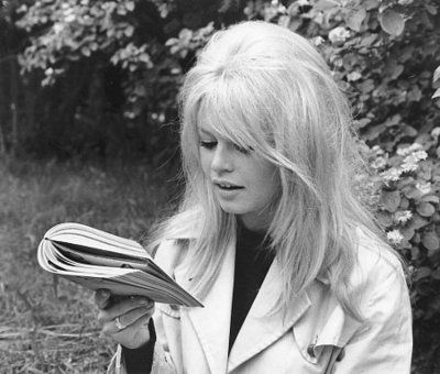 get caught reading: brigitte bardot