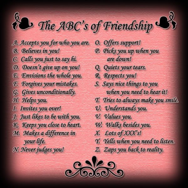 ABC\'s of Friendship <3 | Just Sayings | Pinterest | Friendship ...