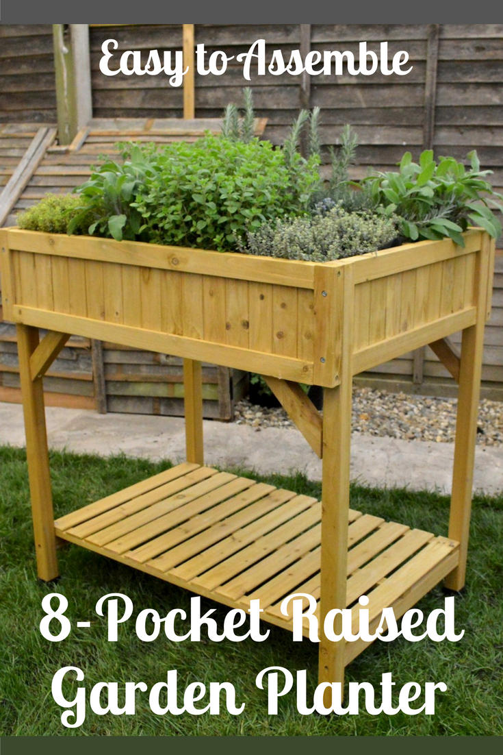 I love this smallspace planter! It has 8 builtin lined