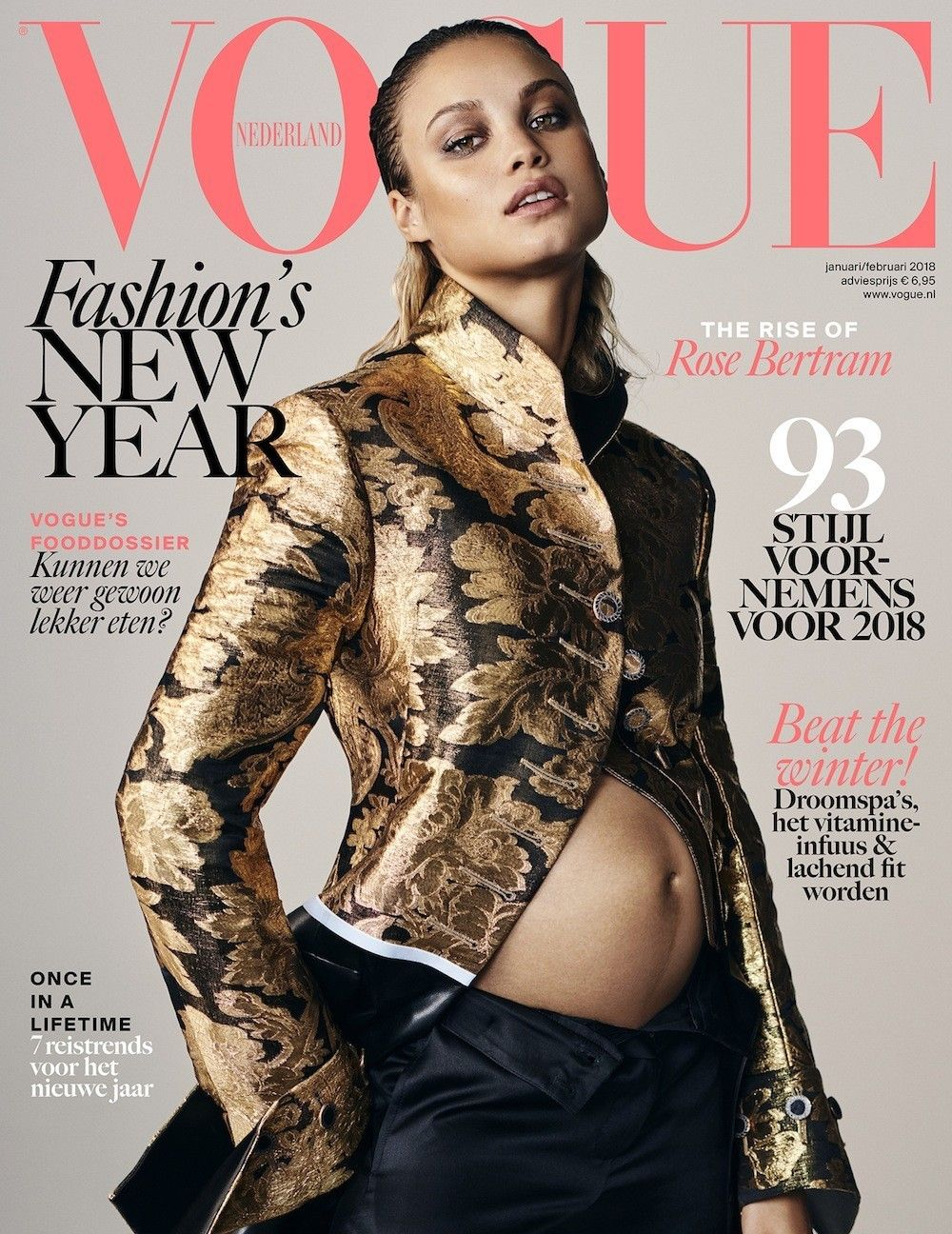 Exciting To See A Pregnant Rose Bertram On Vogue S New Netherlands