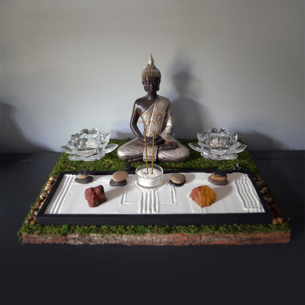 Meditating Buddha Statue Buddhist Altar Table By